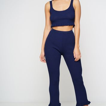 Brinne Ribbed Pants - Navy