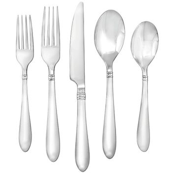 Farberware 45-pc. Annotto Flatware Set (Grey)