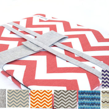 Coral Large Laptop Covers, Macbook Pro 15 inch Laptop Sleeve, 17inch Macbook Case Cover, Chevron Macbook Case, Black Laptop Covers