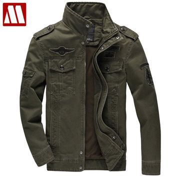 Men Military Army jackets cost outerwear cotton embroidery mens jacket