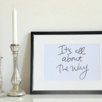 It's all about... - black on white - DIN A4 - Wall Art Print Quote handmade written - original by misssfaith