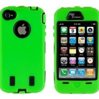 Generic MC0134 Cell Phone Case for iPhone 4/4th Generation - Non-Retail Packaging - Green