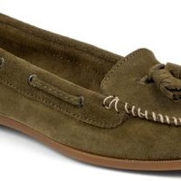 Sperry Top-Sider Sabrina Suede Kiltie Moc OliveSuede, Size 7.5M  Women's Shoes