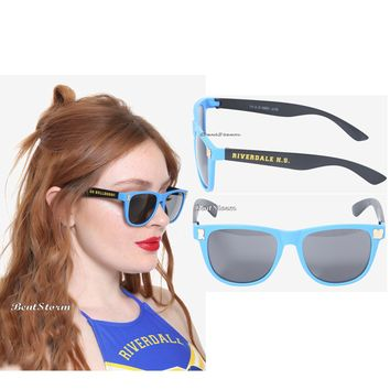 Licensed cool  Riverdale Go Bulldogs Blue Black And Gold Logo Retro Sunglasses Hot Topic EXC.