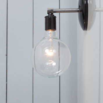 Steel Wall Sconce - Bare Bulb Light
