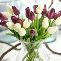 pcs  Tulips  Artificial  Flowers  artificial  bouquet