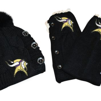 Vikings Leg Warmers and or Beanie