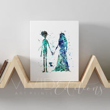 Tim Burton's Corpse Bride Gallery Wrapped Canvas