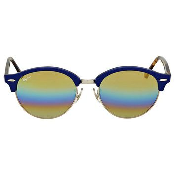 Ray-Ban Clubround Gold Rainbow Flash Sunglasses