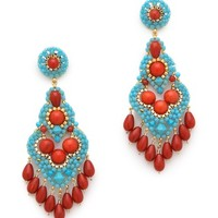 Miguel Ases Beaded Drop Earrings | SHOPBOP