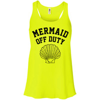 Mermaid Off Duty (Black) Tank Top Racerback