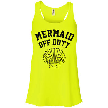Mermaid Off Duty (Black) Racerback Tank Top