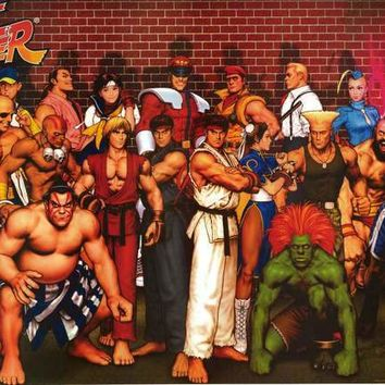 Street Fighter Video Game Poster 24x36