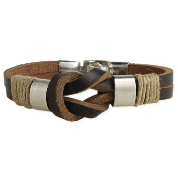 Knotted Leather Men's Bracelet