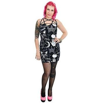 Rat Baby Witchy Woman Pentagram Dress Black Cats Spells Books Cauldrons Moon Ouija