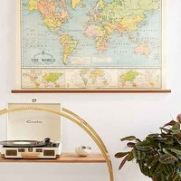 World Map School Chart Wall Hanging