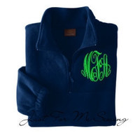 Monogrammed Half-zip pullover jacket Personalized Bridesmaids Gifts-Adult Sizes