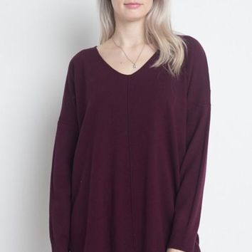 Soft Front Seam Detail Sweater