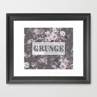 Grunge Framed Art Print by KJ Designs