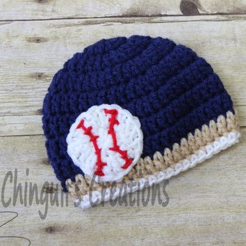 Crochet Baseball Team Hat