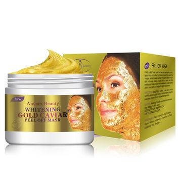 24K Gold Collagen Peel Off Facial Mask Face, Skin Moisturizing, Firming, Anti Aging