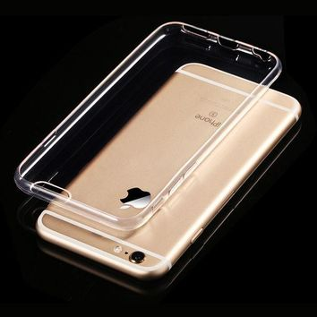 ICIK272 Transparent Clear Soft Silica Gel TPU Case Silicone Cover for iPhone 6 iPhone6 Plus iPhone 7 Ultra Thin Mobile Phone Case
