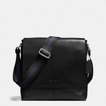 LNFNO New Authentic Men's COACH F72362 Charles Small Messenger Shoulder Crossbody Bag+ Walle