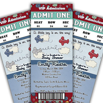 Airplane Baby Shower Invitations - Plane Baby Shower Invitations - It's a Boy - Aviation - Boy Baby Shower Invites - Boy Shower - Zoom