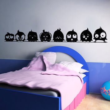 Vinyl Wall Decal Sticker Bird Family #OS_AA1705