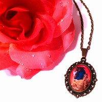 Beauty And The Beast Designer Couples Necklace