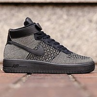 Nike Air Force 1 ULTRA FLYKNIT Mens Sneaker Black 817420-301 Huarache Presto