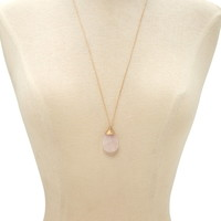 Faux Stone Longline Necklace   Forever 21 - 1000169801