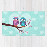 Love owls Rug by EDrawings38 | Society6