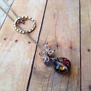 Christmas Bulb Lariat Necklace