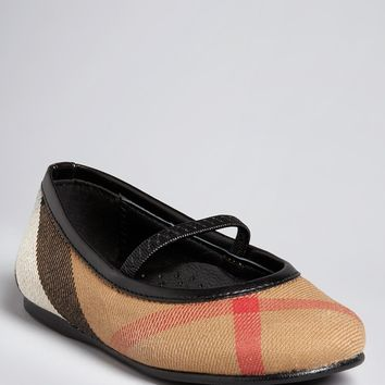 Burberry Girls' Adelle House Check Ballerina Flats - Walker, Toddler