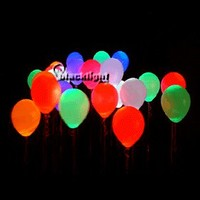 MKBBALL100 - Blacklight Reactive Neon Balloons - Pack of 100