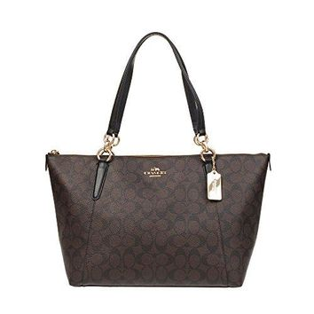 Coach Ava Tote in Signature Brown/Black/Gold F58318 COACH bag