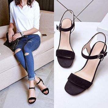 PEAPIX3 Design Korean Summer High Heel Wedge Sandals = 4871040068