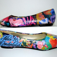Alice in Wonderland Flats - Made to Order