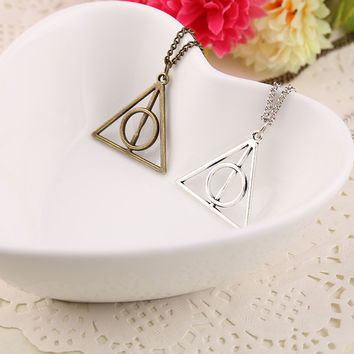 Nanana jewlery store N150 fashion Harry Potter and the Deathly Hallows necklace(min order $10 mixed items order)