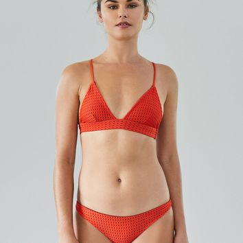 ACACIA Swimwear 2018 Awapuhi Mesh Top in Neon Lava