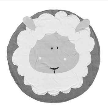 Summer Grey Sheep Baby Blanket Kids Play Game Mats Rug Cartoon Blanket Carpet Children Toy Crawling Mat Indoor Christmas Gift