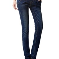 Stylish Zippered Deco Skinny Jeans - OASAP.com