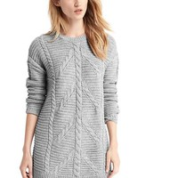 Plait cable knit sweater dress | Gap