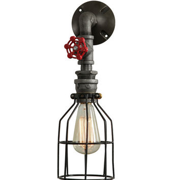 Wall Sconce W/ Handle and Cage