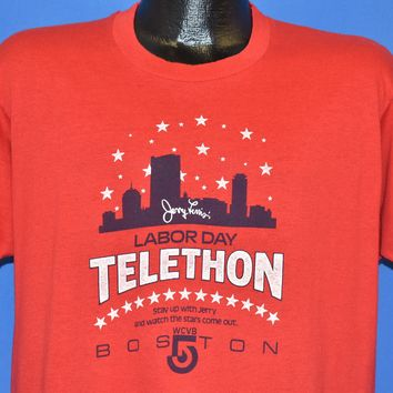 80s Jerry Lewis Labor Day Telethon Boston t-shirt Large