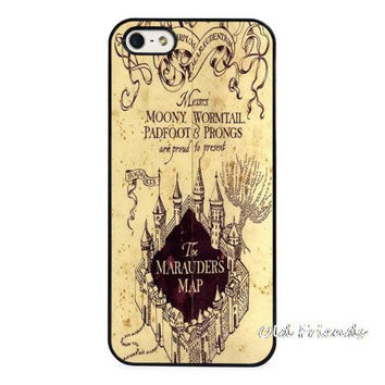 Harry Potter The Marauders Map Phone Case Cover for iphone 4 5s 5c SE 6 6s 6plus 6splus Samsung galaxy s3 s4 s5 s6 s7 edge