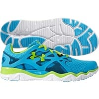 Under Armour Women's Micro G Monza Running Shoe - Blue/Green | DICK'S Sporting Goods