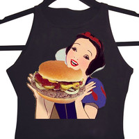 Fat Burger Snow White Crop Top - One Size | Snow White Princess Collection