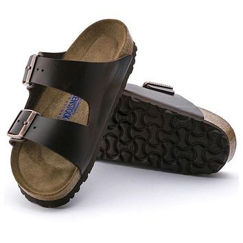 Best Online Sale Birkenstock Arizona Soft Footbed Smooth Leather Amalfi Testa Di Moro